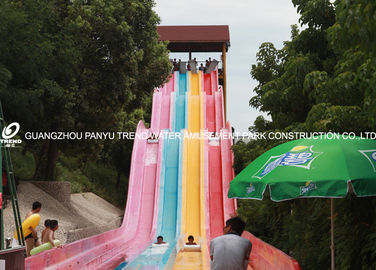 China OEM 3 Lanes Commercial Fiberglass Water Slides for Water Attractions factory