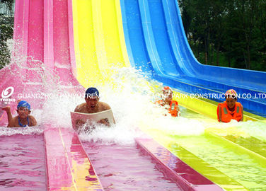 China Classic Multi Slides Fiberglass Water Slides At Water Parks in Red Yellow Blue factory