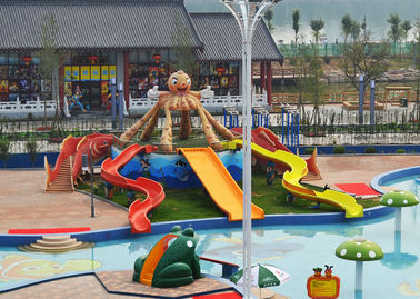 2m Height Fiberglass Kids' Water Slides, Mountain Slide For Children, Parent-child Water Park