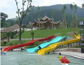 China Big kids playground slide with aqua play , water slides for kids in Giant Water Park factory