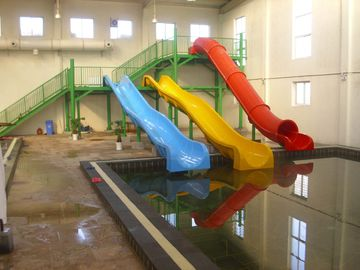 China Fiberglass Kids' Water Slides , Commercial Water Slides for Resort Water Pool / Kids Water Park factory