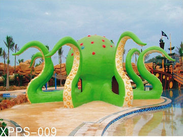 Colorful Octopus Water Playground Equipment 6100*6100*5000 For Family Recreation