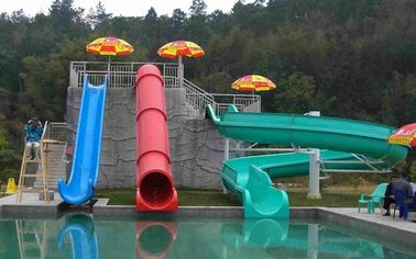 China Commercial Fiberglass Kids' Water Slides Water Park Equipment For Swimming Pool factory
