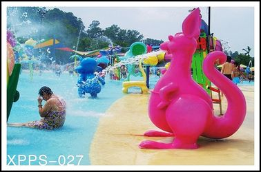 Kangaroo Water Sprayground Aqua Play, Water Playground Spray Equipment Customized