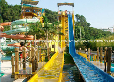 China Outdoor Amusement Park Fiber Glass Free Fall Water Slide Equipment for Outdor Water Park factory
