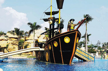 Customized Fiberglass Pirate Ship / Corsair Aqua Play Water Park Equipment