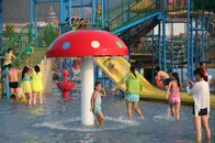 Outdoor Amusement Rainbow Mushroom Kids Water Playground Galvanized Carbon Steel