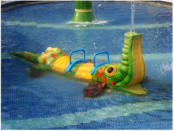 Spray Crocodile Aqua Play Water Sprayground Equipment for Water Park