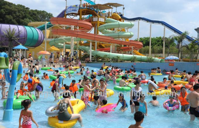 Large Holiday Waterpark Project , Indoor Amazing Funny Water Park / Customized water slide
