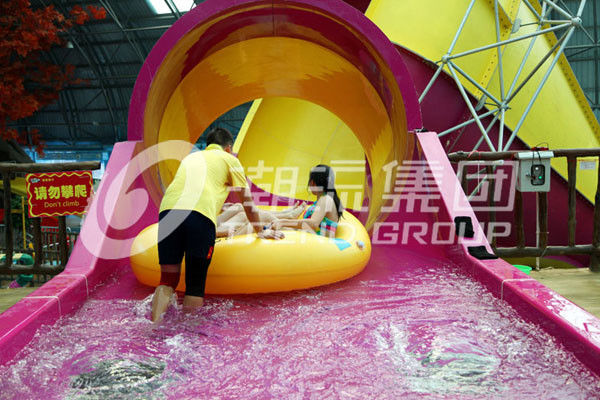 Commercial Fiberglass Water Pool Slides Medium Tornado Water Slide