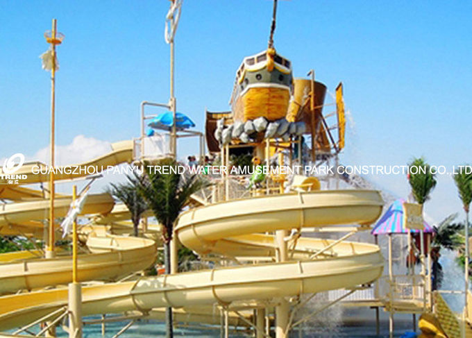 family fun playground water house aqua playground platform with water slide for family fun
