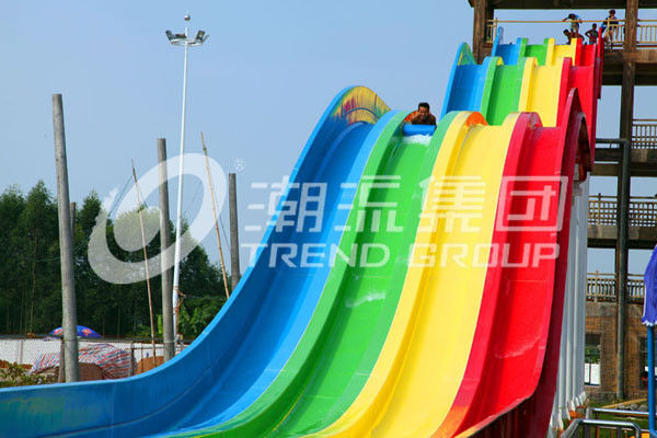 High Speed Water Slides of Fiberglass Material for Holiday Resort Giant Outdoor Water park