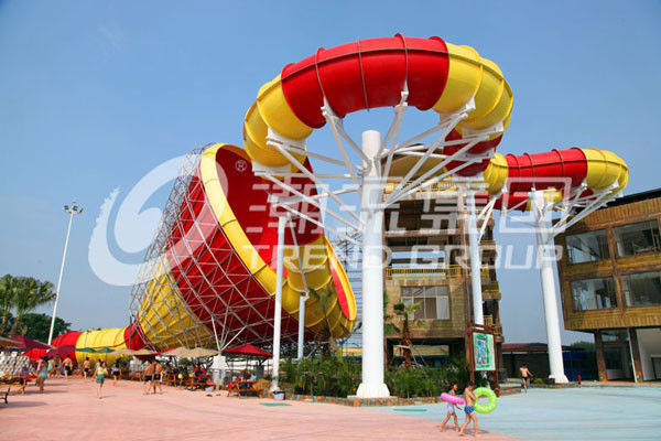 Children waterslide above ground pool water slide for family interactive water play