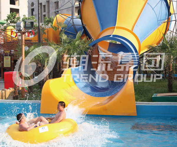 Aqua Park Adult And Children Tornado Water Slide Large Customized