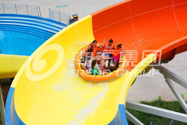 Long raft plastic water slide for children and adult