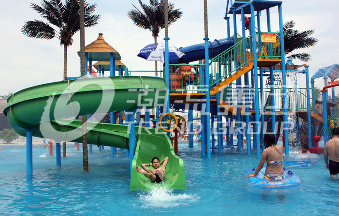 Commercial Medium Water House Aqua Playground Platform With Water Slide