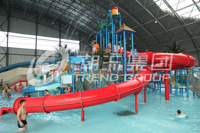 Customized Children Water Slides Amusement Park Games With Galvanized Steel Support
