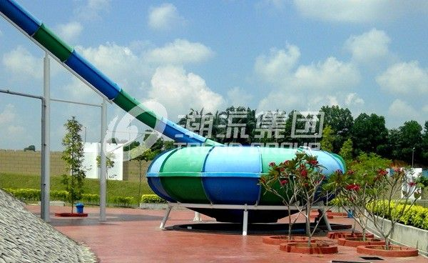 Customized Exciting Aqua Park Fiberglass Water Slides / Body Slide for Water Fun