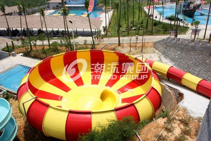 Big Water Park Commercial Fiberglass Water Slides ,  Fiberglass Pool Slide