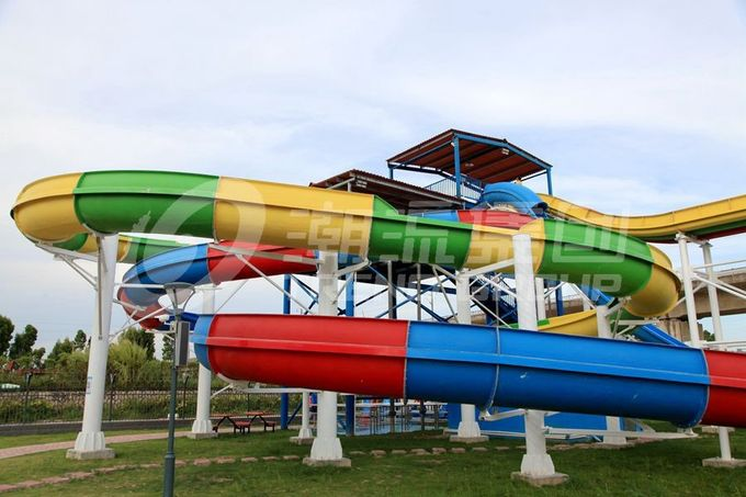 Galvanized carbon steel Custom Water Slides For Giant Outdoor Water Park