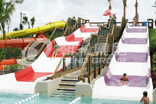 FRP Kids Combinaton Water Slide By Body Or Raft For Outdoor Water Park Construction