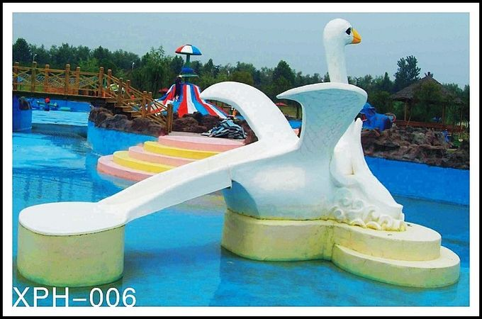 Commercial fiberglass water pool slides with interesting cartoon shaped for Swimming pool water slide parts