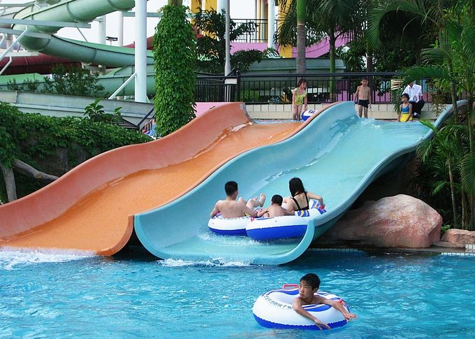 Fiberglass Water Slides For Swimming Pool Equipment For Kids Water Play